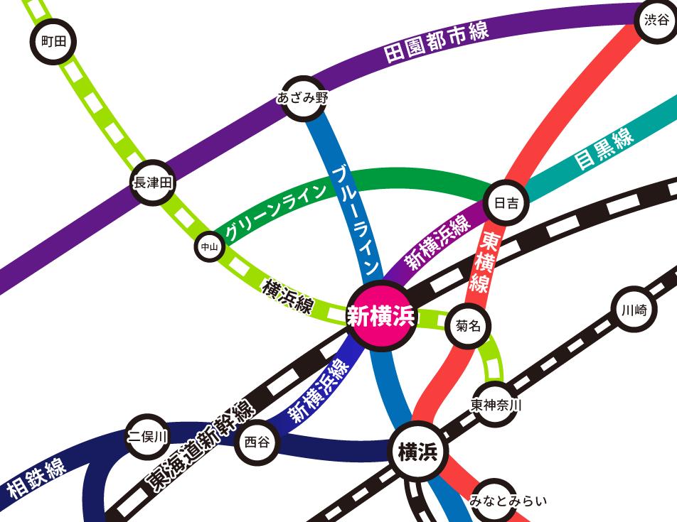新横浜LiT 路線図