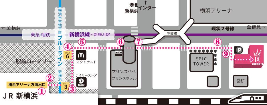 新横浜LiT Map